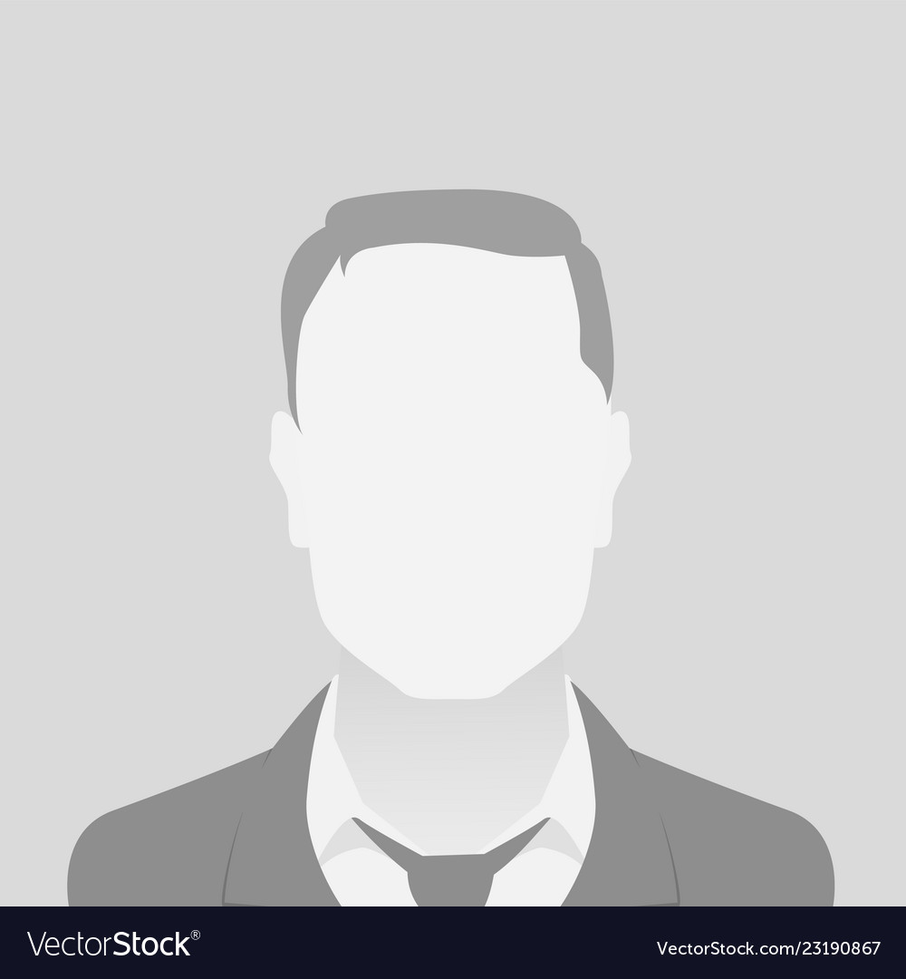 Person gray photo placeholder man in a costume on gray background
